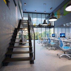 вътрешен дизайн на зона за релакс в малък офис