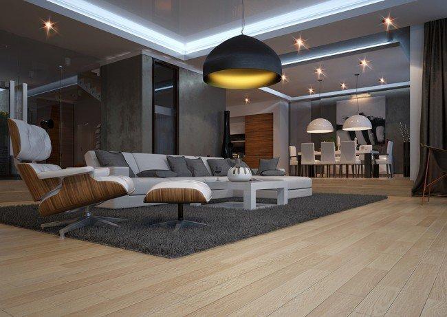 интериорен дизайн на дневна архитекти Гонгалов Чолаков