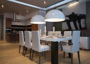 проект на кухня и трапезария в бяло
