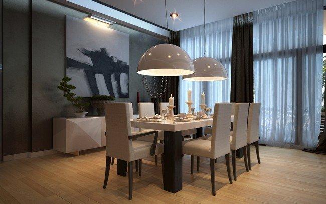 маса и столове за трапезария в бяло