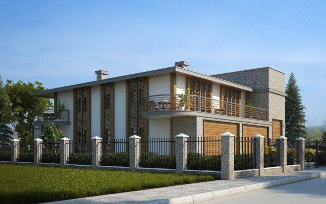 еднофамилна къща на два етажа