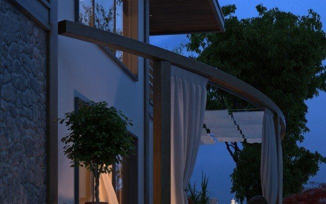 дизайн на градина за двуетажна къща