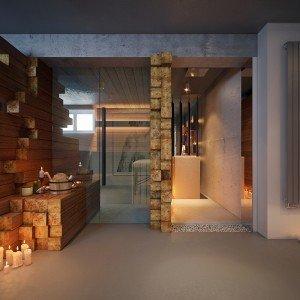 дизайн на СПА в частна къща