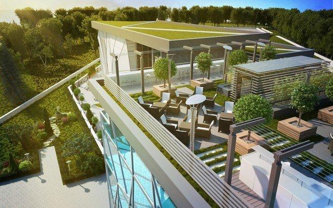 ландшафтни проекти за офис сграда на Walltopia