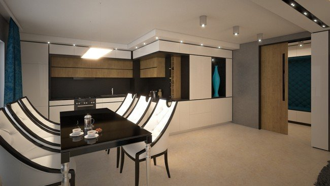 модерен дизайн на апартамент в бяло архитекти Чолаков Гонгалов