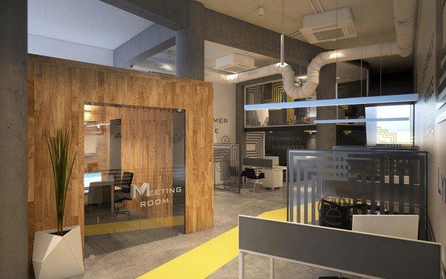 вътрешен дизайн на кабинети и зали за срещи в офис