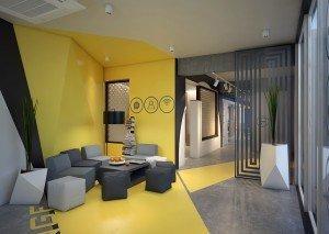 проект за дизайн на приемна в офис
