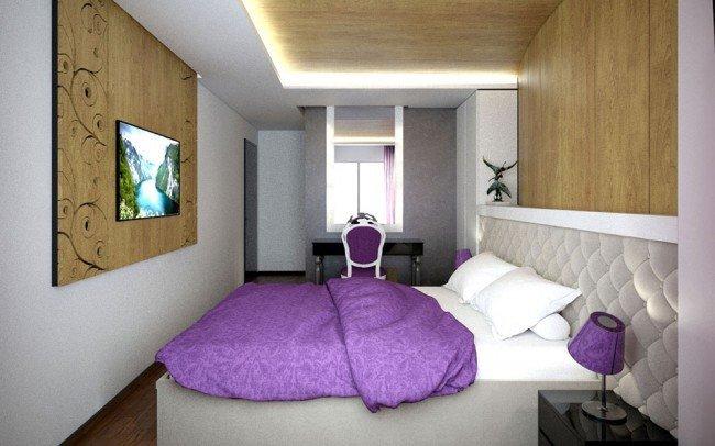 интериорен дизайн на спалня за апартамент