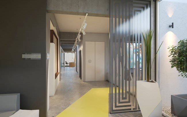 дизайн на интериор и приемна на офис