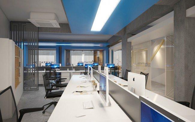 дизайн на отворено работно пространство в офис