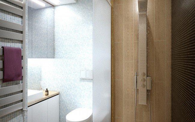 дизайн на баня в модерен стил в апартамент в София