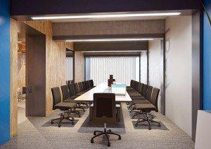 интериорен дизайн на кабинет за срещи в офис
