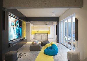 Модерна зона за релакс в офис архитекти Чолаков Гонгалов