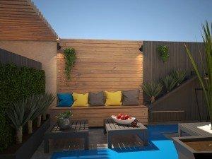 идея за дизайн на градина в офиса