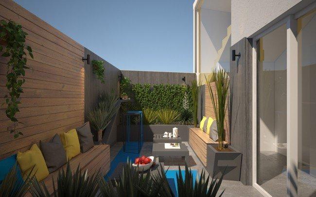 дизайн на градина и масто за почивка в офис