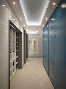 вътрешен дизайн на апартамент и антре в модерен стил