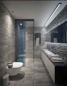 модерен дизайн на баня в апартамент архитекти Чолаков Гонгалов