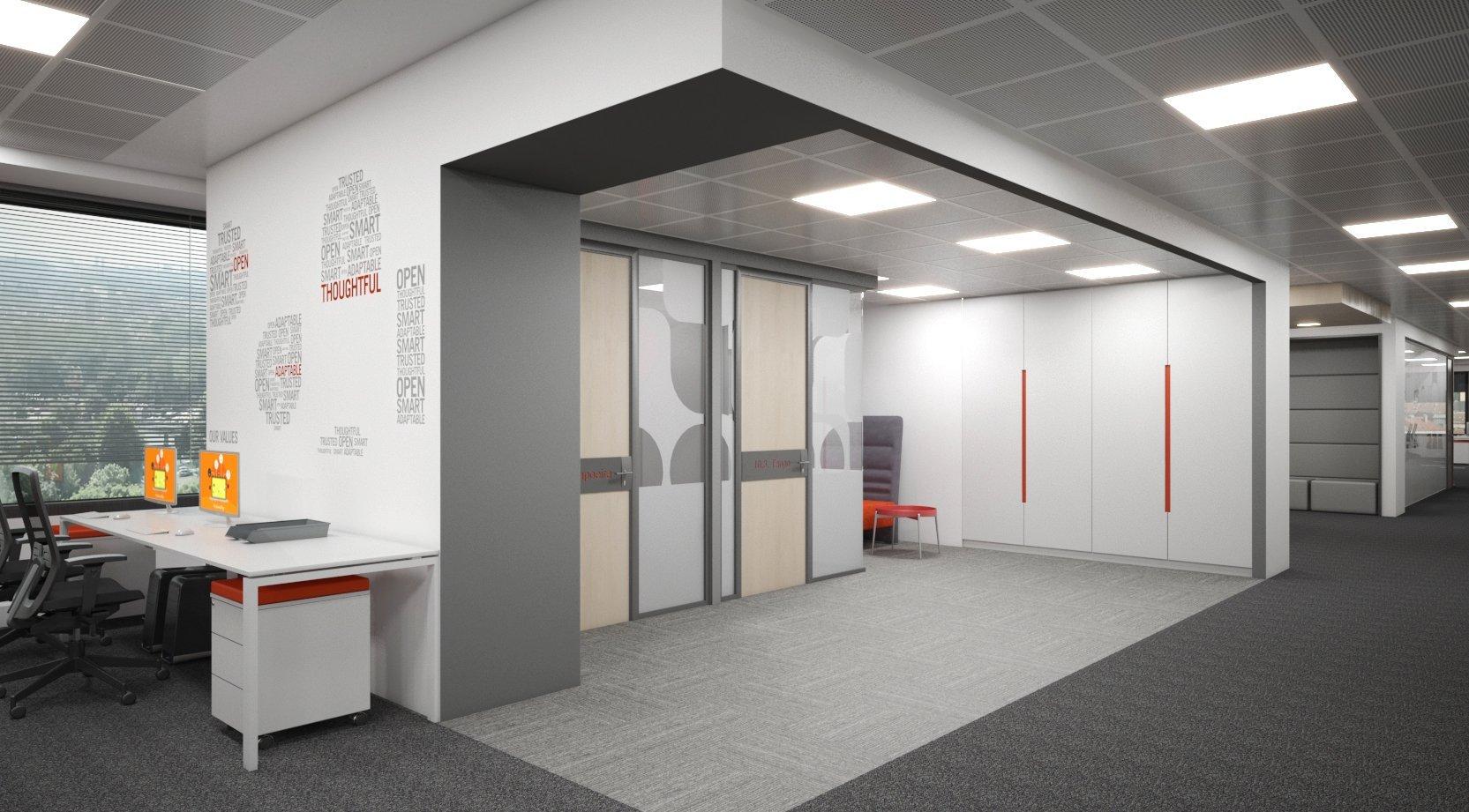 Interior design of an international it company cholakov for International interior design companies